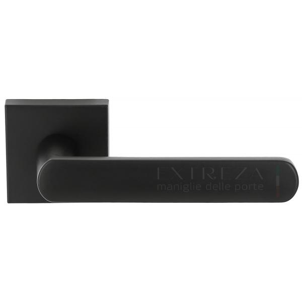 Дверная ручка Extreza Hi-tech «AQUA» (Аква) 113 R11 черный матовый F22
